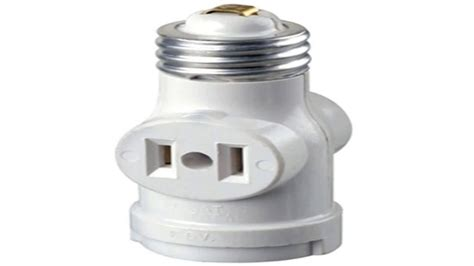 outlet to medium base light socket adapter youtube