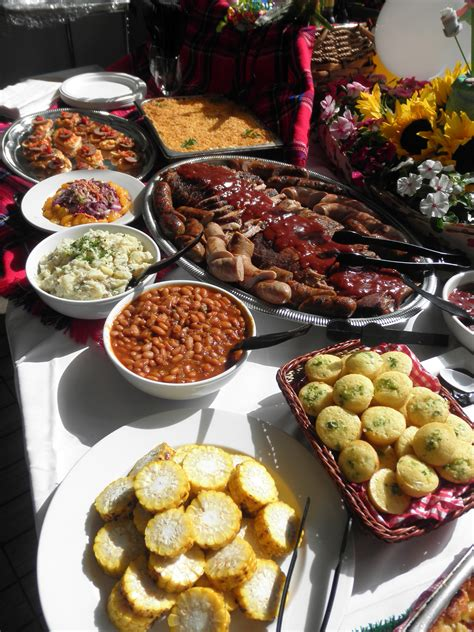 Bbq Buffet Buffet Food And Food Bars Cheap Wedding Buffet Menu Ideas