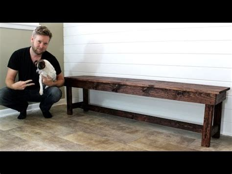 farmhouse bench easy diy project youtube