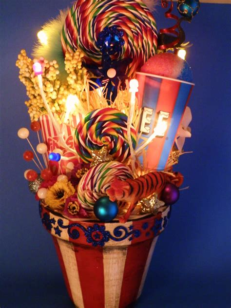 lighted carnival circus decor centerpiece by