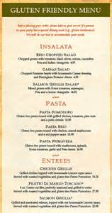 brio italian menu gluten free hungry gal is offically off the market