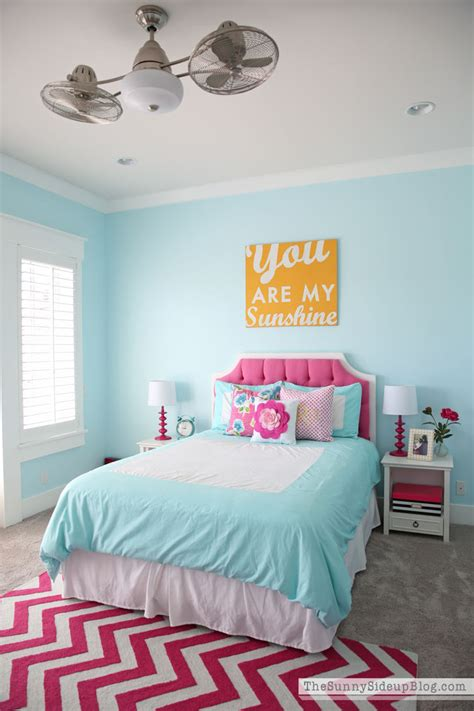 blue girls bedroom pink and aqua blue preteen girls bedroom