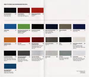 2014 Ford Escape Colors 2014 Ford Escape Color Chart Apps Directories