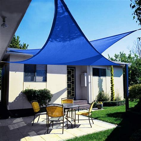 triangle sail sun shade quictent 12 18 20 ft triangle sun shade sail patio pool top canopy cover bag ebay