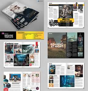 Magazine Template Indd 20 magazine templates with creative print layout designs