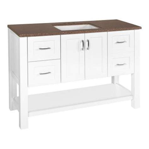 glacier bay bathroom vanity glacier bay hollyglen 48 1 2 in w vanity in white with