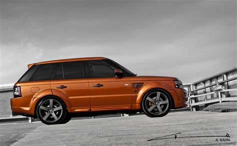 orange range rover sport 2012 kahn vesuvius orange range rover
