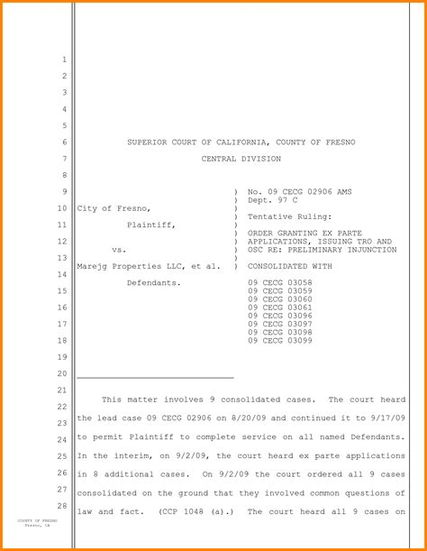 court pleading template 7 pleading paper california superior court ledger paper