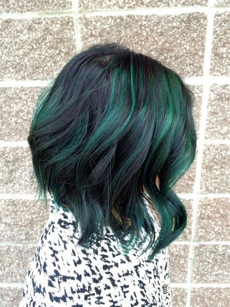 hairstyles with green highlights 50 stylish highlighted hairstyles for black hair 2017