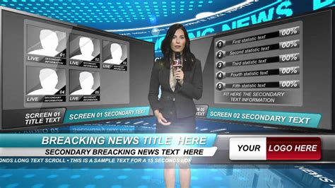 news template after effects after effects template news show studio and backgrounds