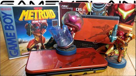 Kaset 3ds Metroid Samus Returns samus edition new 3ds xl unboxing new metroid amiibo samus returns special edition
