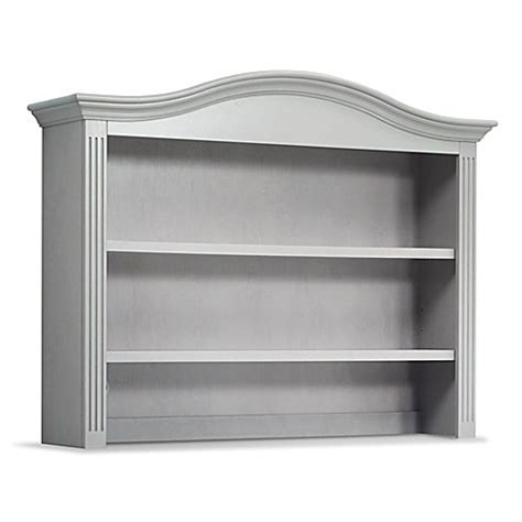 sorelle providence dresser gray sorelle providence hutch in stone gray from buy buy baby