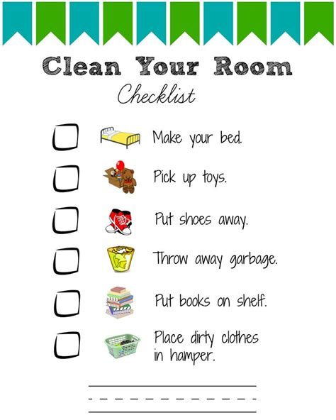 clean bedroom checklist 17 best images about kids responsibility on pinterest