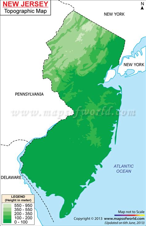 map of new usa new jersey topographic maps