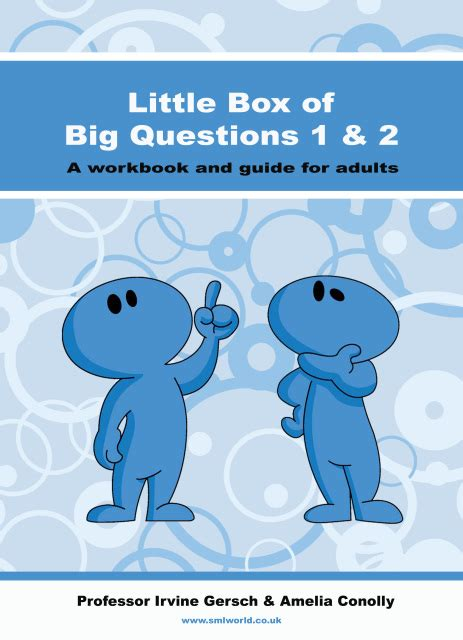 big questions from little 0571337759 little box of big questions workbook