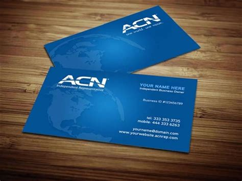 acn business cards templates acn business card design 4