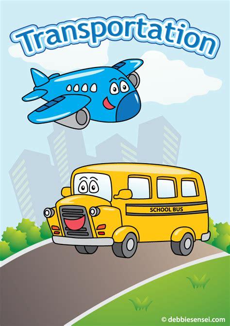 debbie sensei  esl transportation flashcards