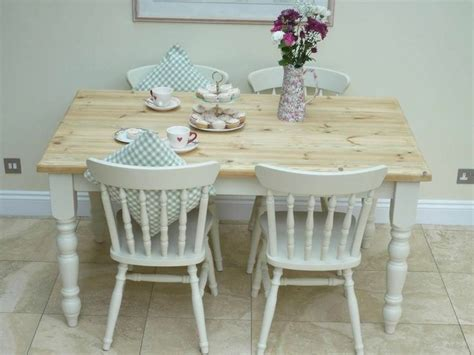 shabby chic kitchen furniture lovely shabby chic kitchen table and 4 chairs painted in
