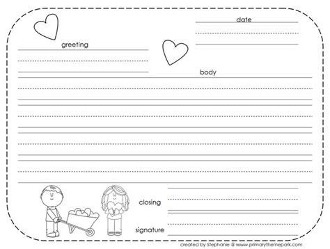 write friendly letter printables letter