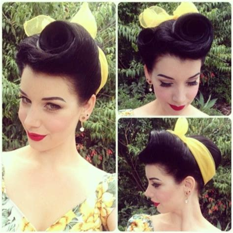1940s bandana hairstyles best 25 rockabilly updo ideas on pinterest