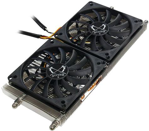 3 fan graphics card musashi dual fan graphics card cooler