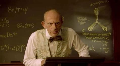 flux capacitor and the beanstalk easter eggs christopher lloyd teaches about the flux capacitor in and the beanstalk