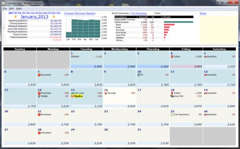 calendar budget template budget calendar free and software reviews