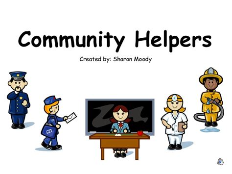 Community Helpers Power Point Community Service Powerpoint Template
