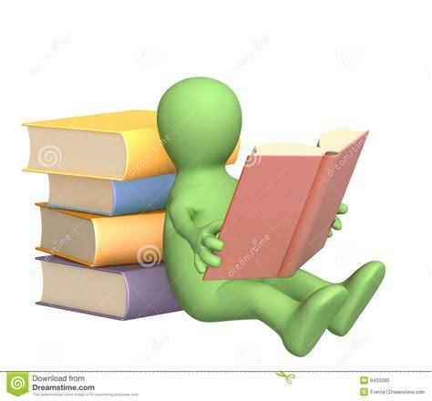 marioneta 3d leyendo el libro foto de archivo imagen 9433280