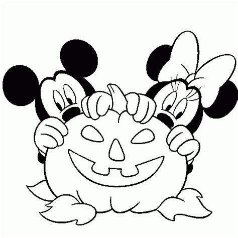 halloween coloring mickey disney halloween coloring