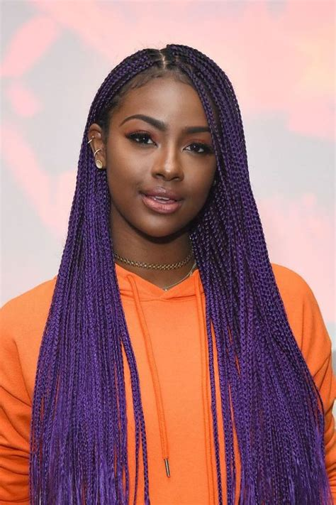 grey and purple combined together style box breads purple braids styles 35 gorgeous purple braids hairstyles