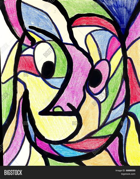 picasso paintings copyright original abstract picasso esque image photo bigstock