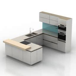 3d Cad Kitchen Design Software Free Kitchen Furniture 3d Models Kitchen N210712 3d Model