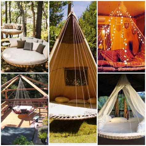 dream hanging beds 12 ideas home living now 84585 turn a troline into a hanging bed great for a spot in