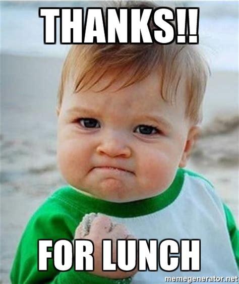 Thanks Baby Meme - lunch meme related keywords lunch meme long tail