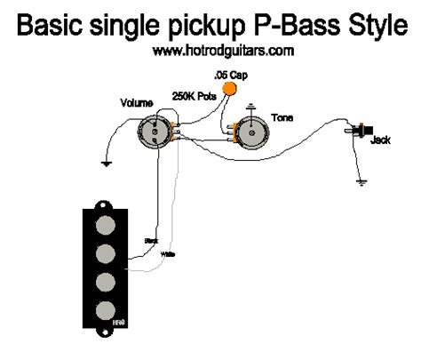 one wiring diagram single bass wiring
