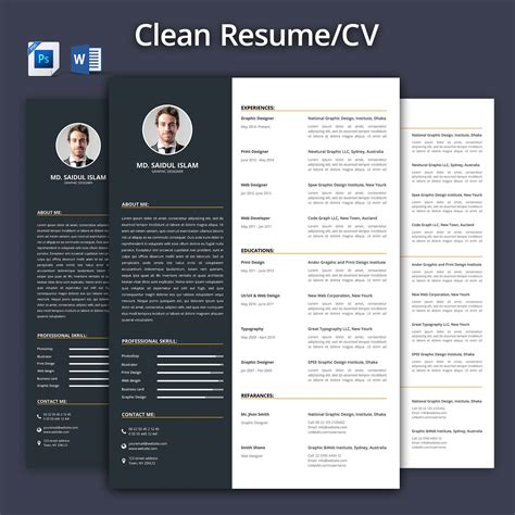 Sample Resume Format In Singapore by Clean Resume Cv 2017 Resume Templates Creative Market