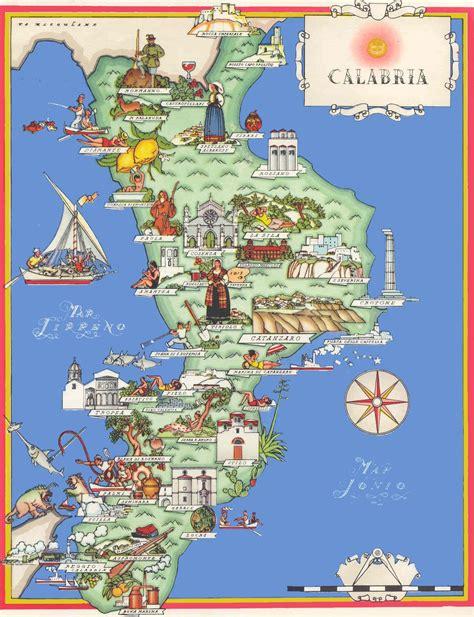 in calabria calabria tourist map