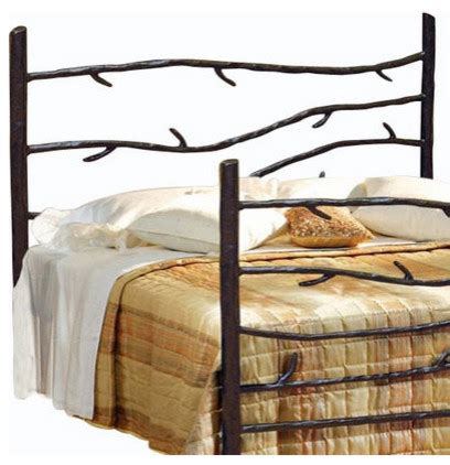 Rustic Metal Headboards Woodland Wrought Iron Headboard Rustic Headboards By Timeless Wrought Iron