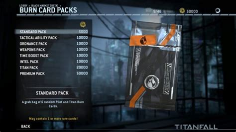 titanfall burn card template titanfall update adds a market for burn cards and insignia