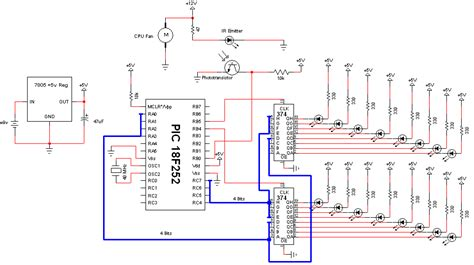 Propeller Clock Circuit Diagram pyro propeller clock schematic pyroelectro news