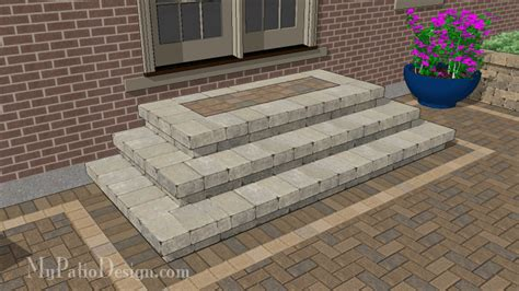 Patio Steps Design Patio Step Design 2 Cascading Steps 84 Quot Wide Stoop