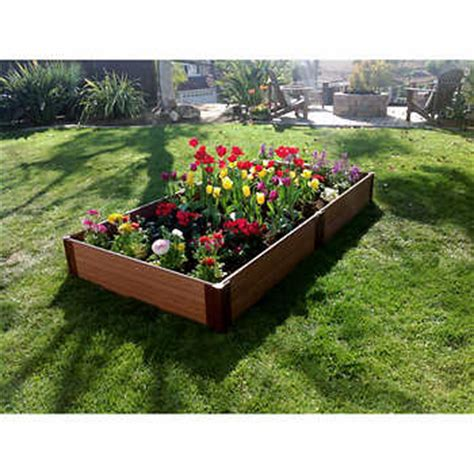 costco raised garden beds frame it all 174 system 2 level raised garden bed kit 4 ft x