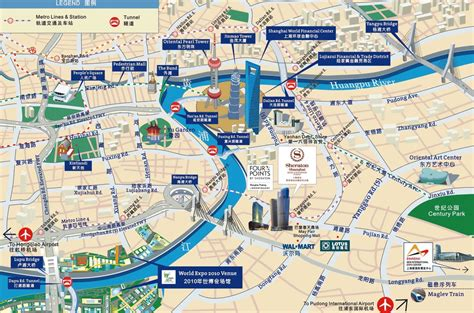 tourist attractions map shanghai tourist map shanghai attraction map shanghai