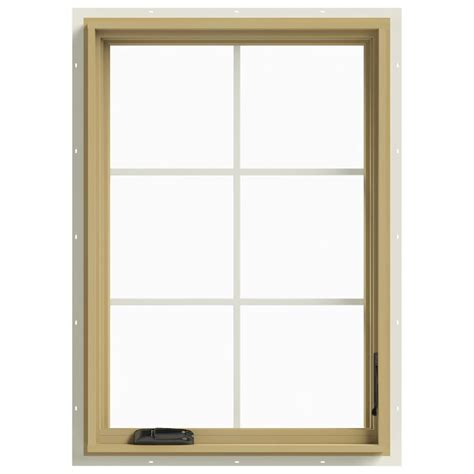 Jeld Wen Aluminum Clad Wood Windows Decor Jeld Wen 28 In X 40 In W 2500 Right Casement Aluminum Clad Wood Window Thdjw140100409