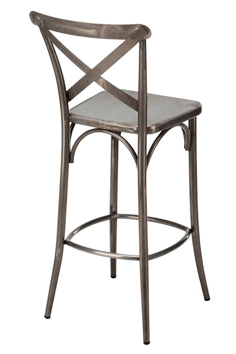brushed metal bar stools closeout xavier steel bar stool with brushed transparent