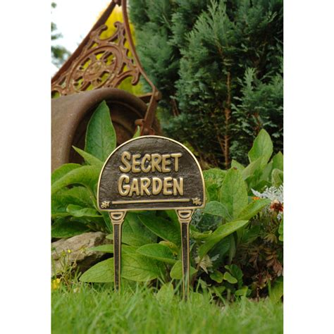 Metal Herb Garden Signs by Solid Brass Black Quot Secret Garden Quot Lawn Sign Lawn Signs