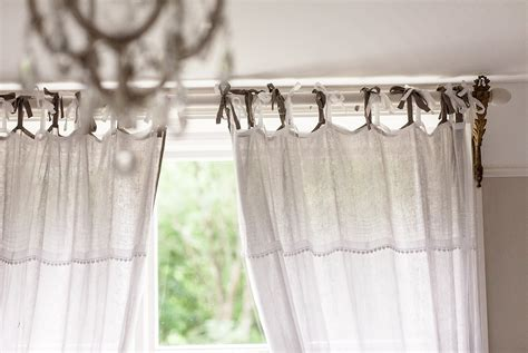 how to make tie top curtains tie top curtains uk home design ideas
