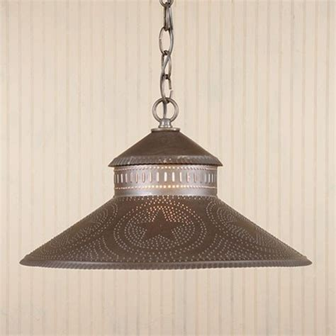 kitchen island shade light in punched tin with