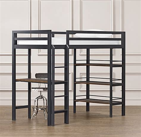 study loft bed industrial loft twin study bunk bed with 1 desk
